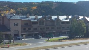 Far view of strip mall