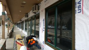 Siding protection on commercial business
