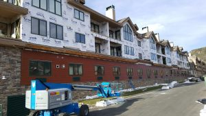 Siding preparation on commercial business