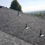 Long view of newly finished roof